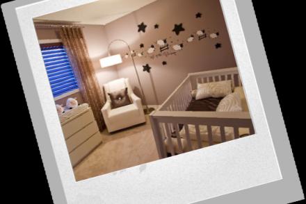 украшение комнаты младенца