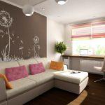Интерьер однокомнатной квартиры с детской — как можно реализовать?