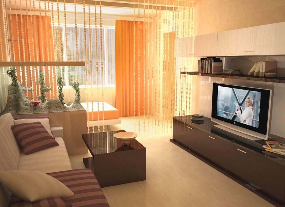 Дизайн однокомнатной квартиры хрущевки разделить на две зоны