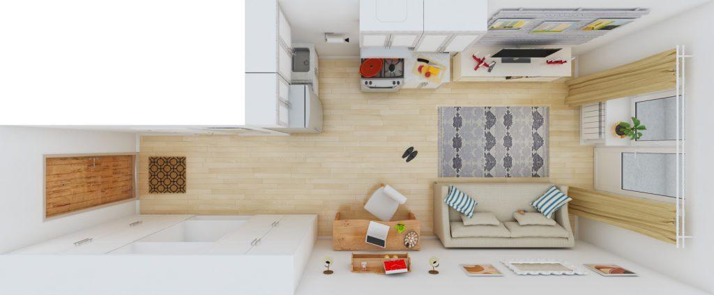 уютный дизайн интерьера квартиры