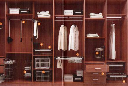 наполнение шкафов и гардеробных