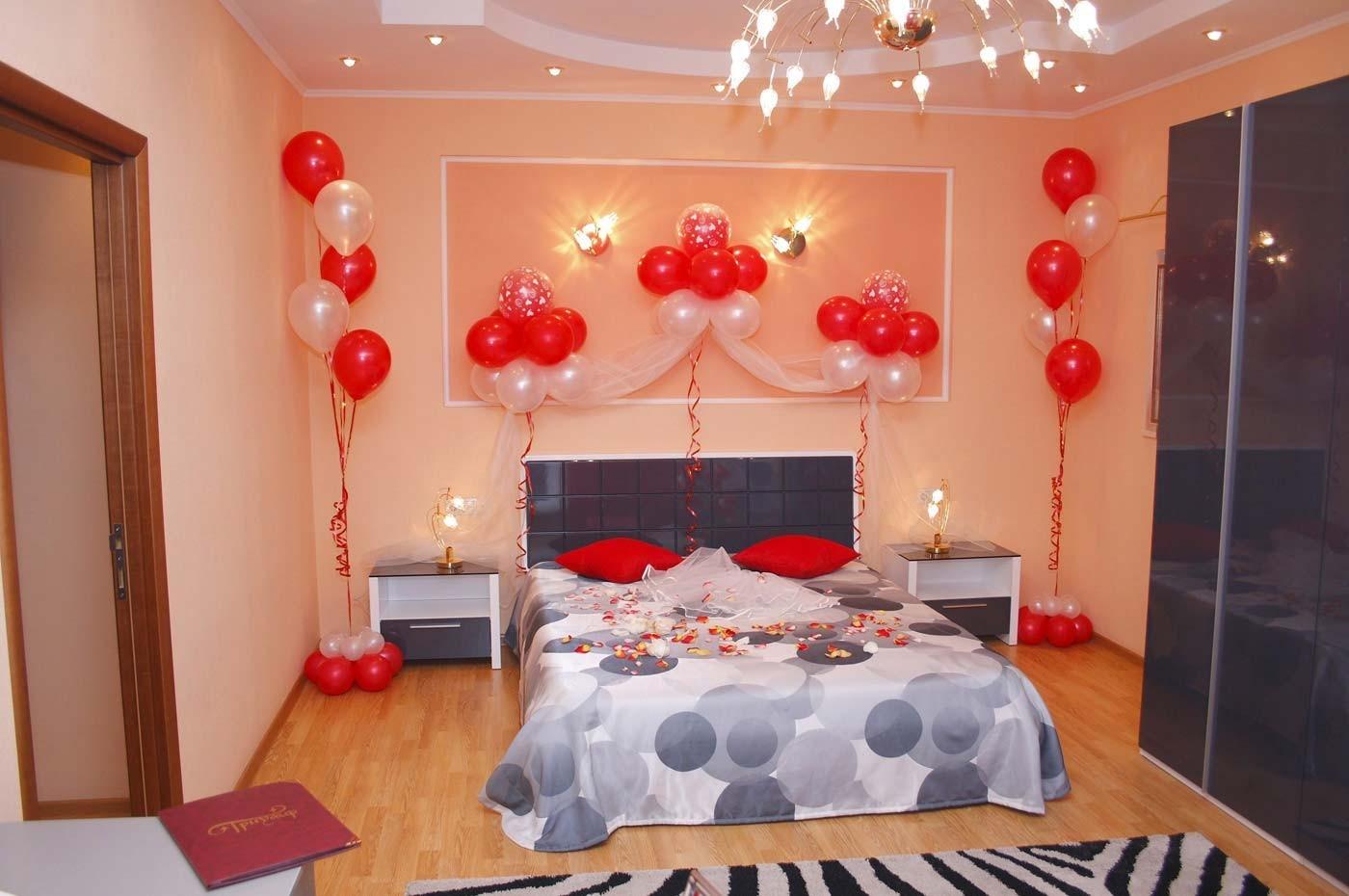 Украшение шарами квартиру фото